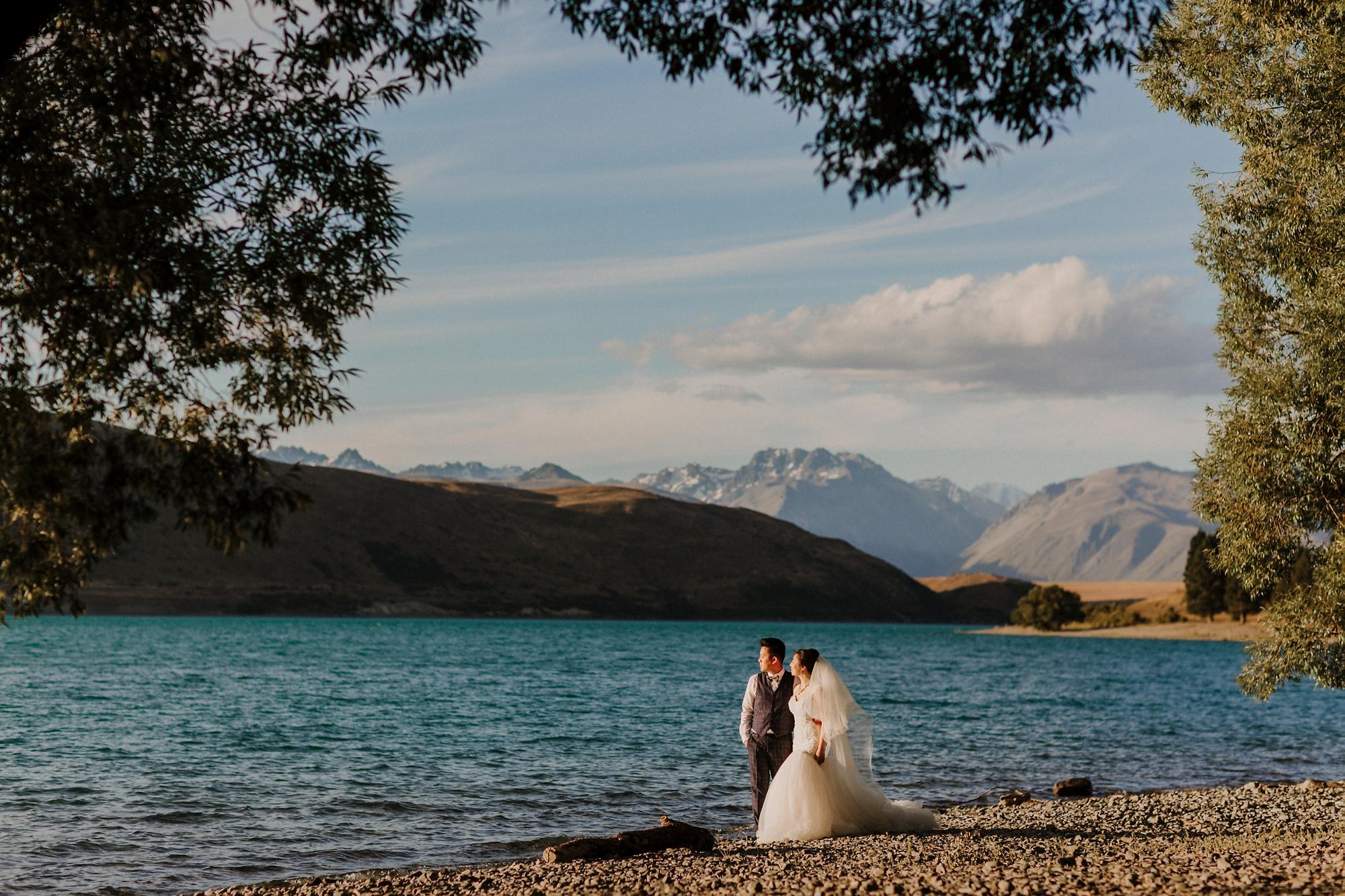 pre wedding shoot Lake Tekapo NZ