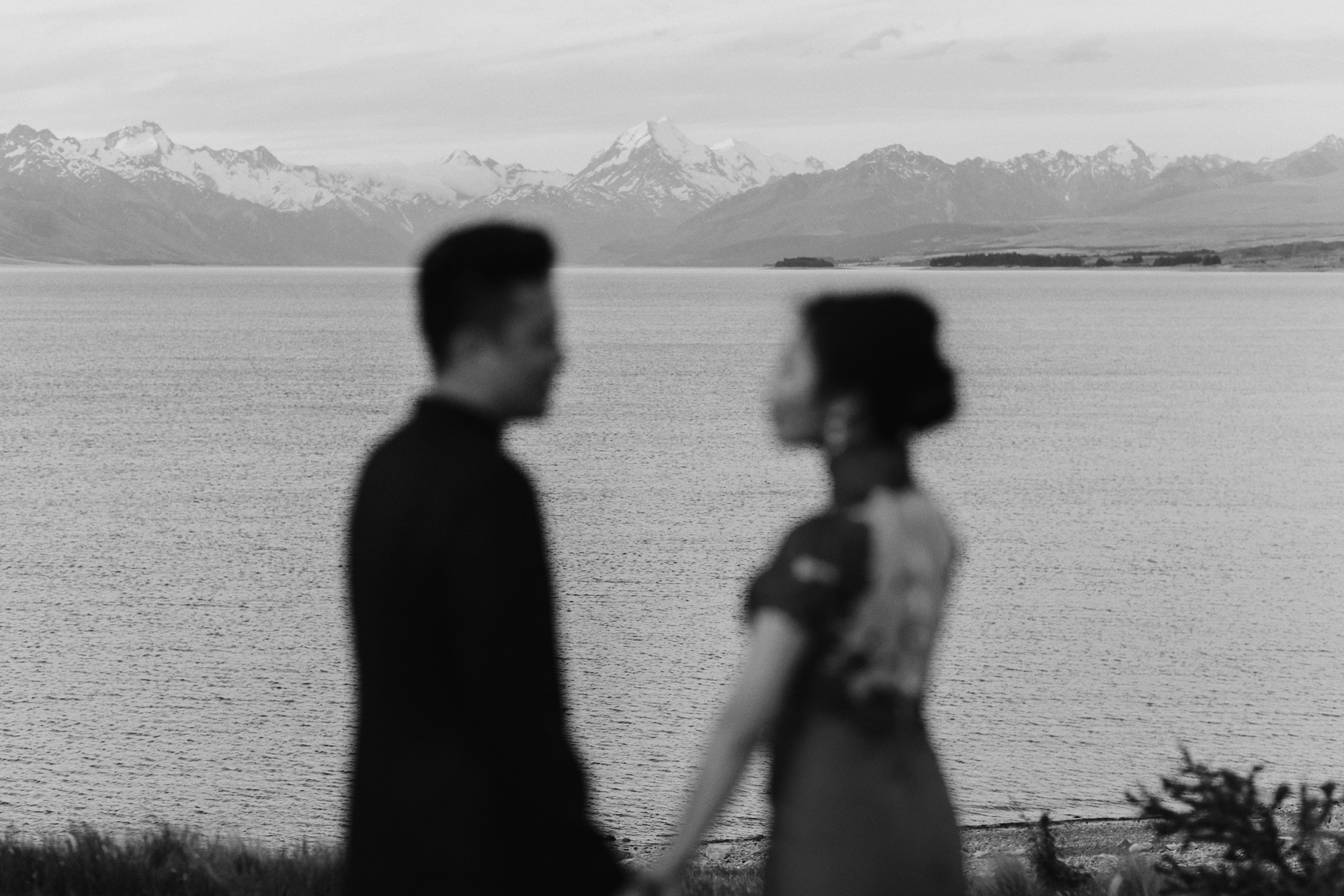 Engagement shoot black and white